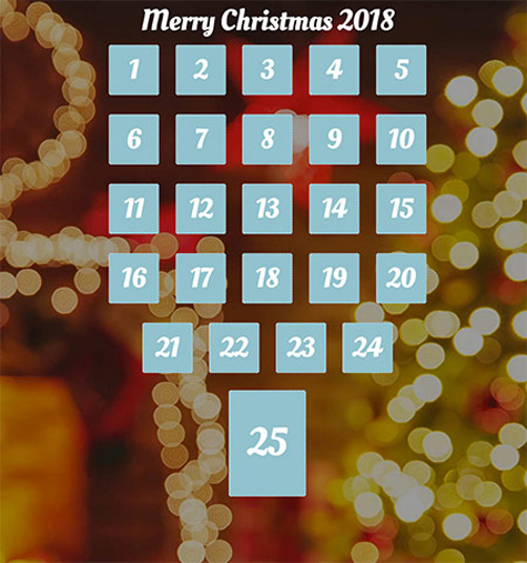 Our Advent calendar for 2018